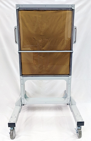 Transparent Radiation Shield Rolling Rack
