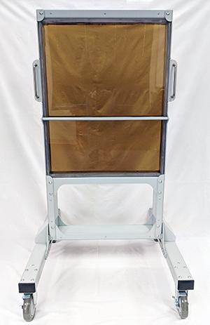 Transparent Radiation Shield Rolling Rack