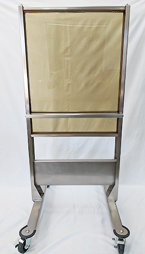 Transparent-Radiation Shield-Rolling-Rack
