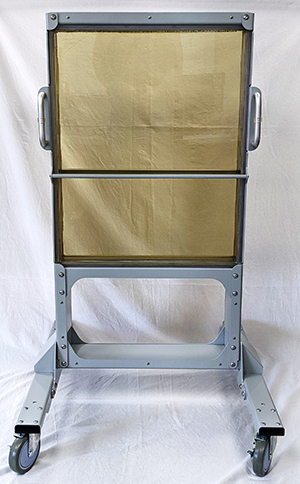 Transparent Radiation Shield Rolling