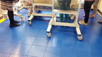MIBG Shielded Floor Tiles